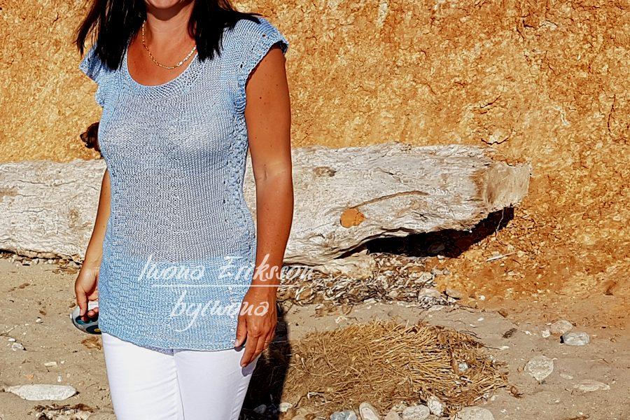 bluzka na lato z lnu