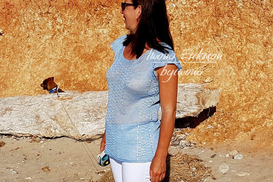 letnai bluzka na drutach