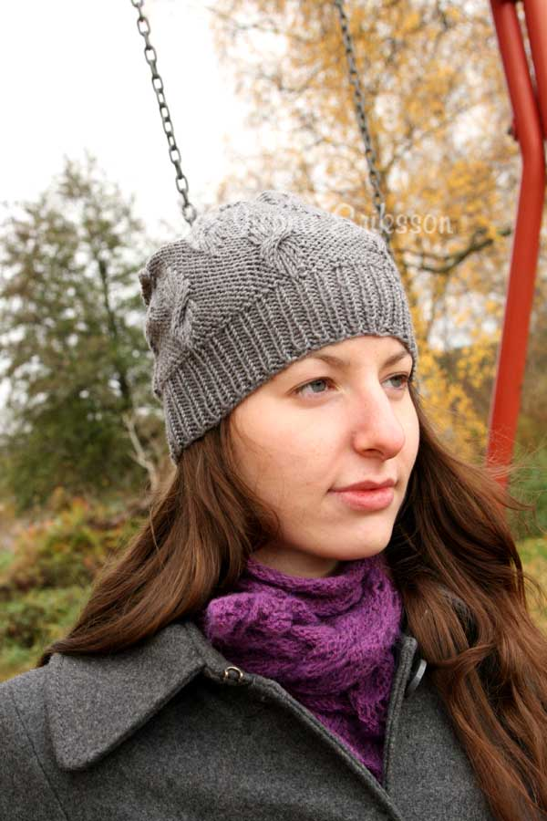 czapka na zimę na drutach