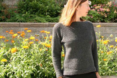 Sweter z okrągłym karczkiem Piasek