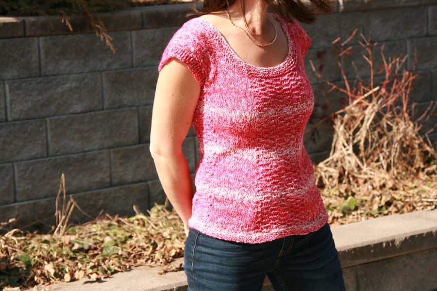 Letnia bluzka na drutach