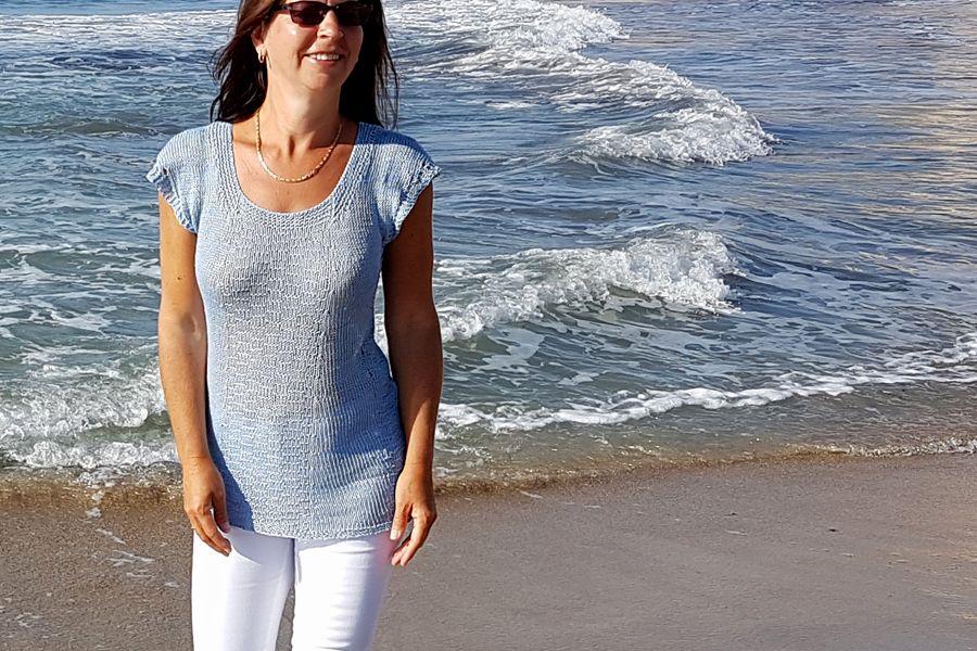 Bluzka na drutach z lnu.